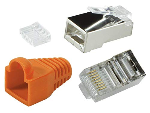 Odedo® 10 Pack – Conector crimp Cat6 metal apantallados