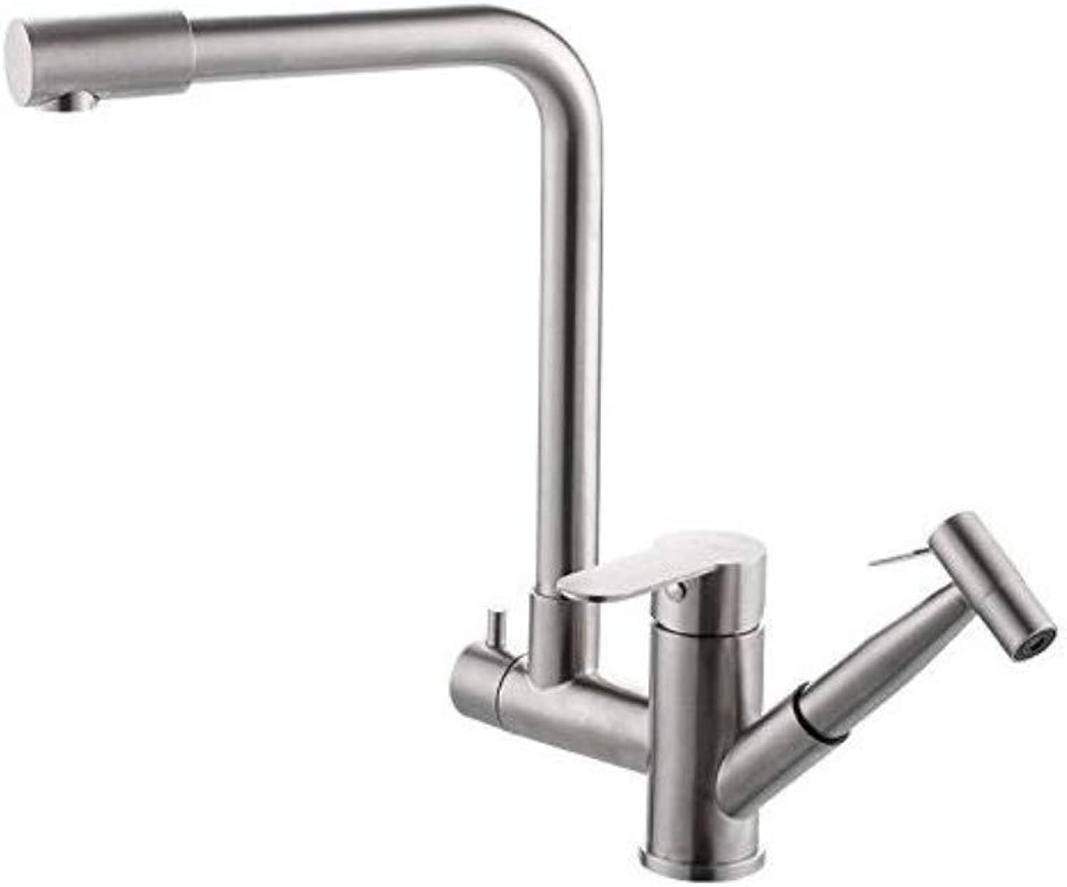 Taps Kitchen Sinkantique Kitchen Sink Mixer Tap 304 Stainless Steel Hot and Cold Water Kitchen Pull-Down Faucet