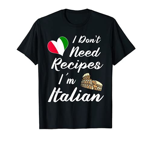 Divertido italiano Cuchillos Suministros Chef Hat Pasta Pizza Camiseta