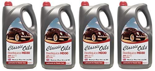 Klassieke oliën bietensap HD30, motorolie voor luchtgekoelde VW, 20 liter