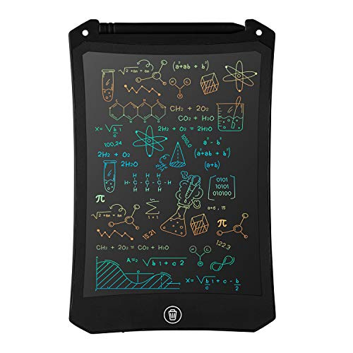 LCD Writing Tablet, Electronic Digital Writing &Colorful Screen Doodle Board, cimetech 8.5-Inch Handwriting Paper Drawing Tablet Gift for Kids and Adults at Home,School and Office (Black)