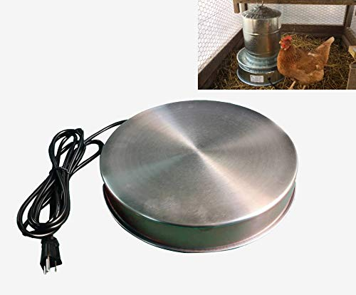 H&G lifestyles Poultry Drinker Heater Base for Chicken Water Heater for Winter Deicer Heated Base