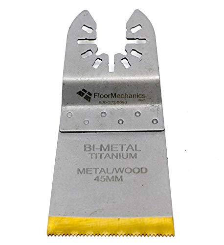 Affordable Floor Mechanics Bi-Metal Titanium Metal/Wood 45mm Oscillating Saw Blades (5 Blades)