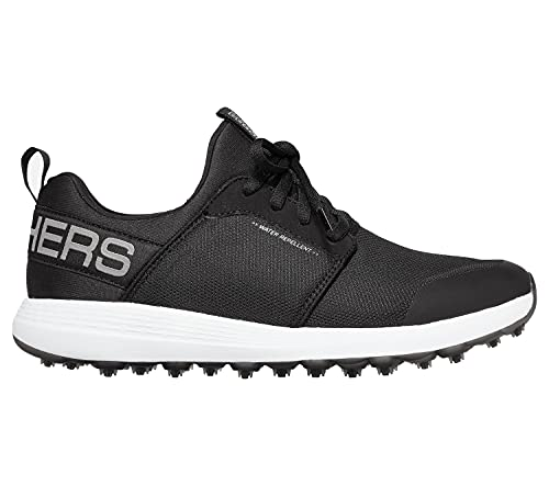 Skechers MAX Shoe, Zapatos de Golf Hombre, Black White Sport, 47 EU
