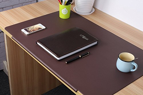 tzm2016 TPU Desktops Mate with Lip - Mouse/Writing/Typing Pad - Desk Protector for Offfice & Home - Laptops Desk Mat - Brown