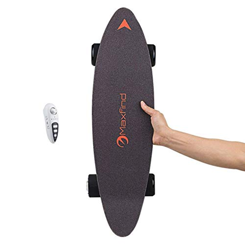Skateboard Elettrico Longboard Skateboard con Telecomando Wireless Bluetooth Tavola Lunga 7 Strati Tavola Solida Foglia d'Acero