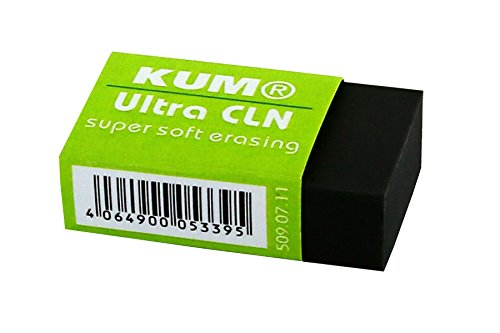 KUM 509.07.11sintéticos goma de borrar Ultra CLN SB, 1pieza, pequeño, color negro