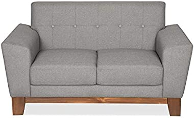 @home by Nilkamal Budapest Two Seater Sofa (Elite Grey)