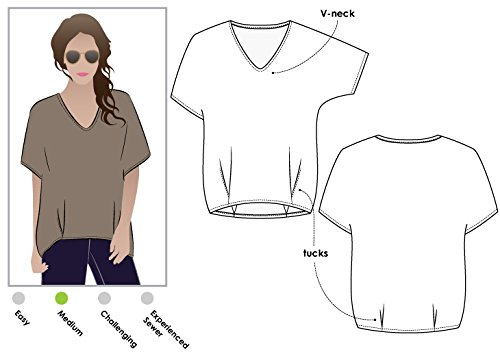 Style Arc Sewing Pattern - Daphne Tunic (Sizes 04-16) - Click for Other Sizes Available