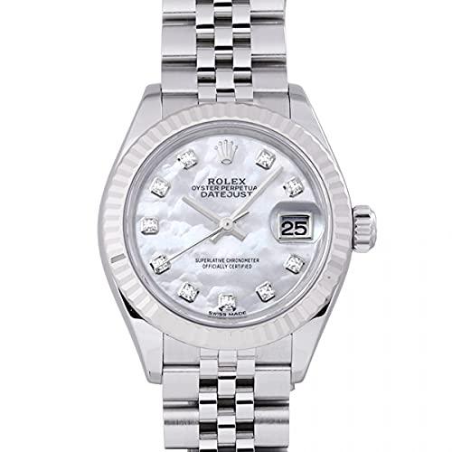 ロレックス ROLEX デイトジャスト 279174NG ホワイト文字盤 中古 腕時計 レディース (W208802) [並行輸入品]