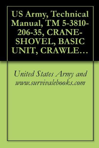 US Army, Technical Manual, TM 5-3810-206-35, CRANE-SHOVEL, BASIC UNIT, CRAWLER MTD, 40-TON, 2 CU YD,
