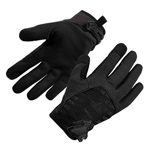 Ergodyne ProFlex® 812BLK High-Dexterity Black Tactical Gloves, Black, L