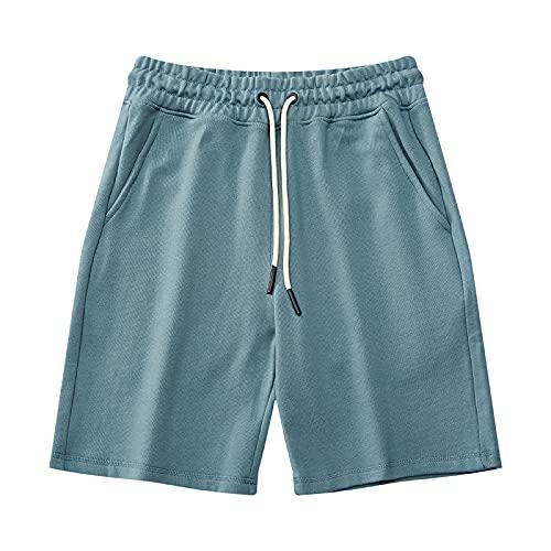 ZYLEDW Pantalones Cortos Deportivos para Hombres, Hombres Sueltos Casual Gym Sport Jogger Bolsa con Cordón Transpirable Hombres Sweat Half Shorts.-I  XL
