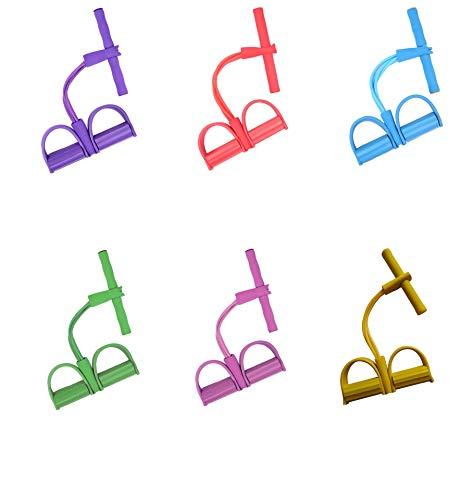 6 Kleuren Pedal Resistance Band, Elastische Pull Rope Hometrainer Zitten Trekkabel Expander Voor Buik, Taille, Arm, Yoga Training