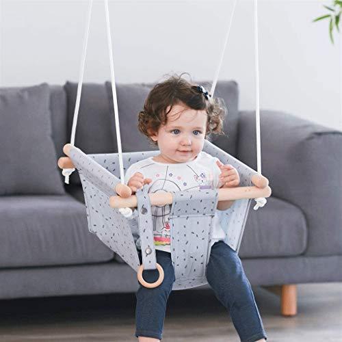 LUGEUK Silla Colgante bebé Interior bebé algodón Lienzo niño Swing Asiento cinturón Fijo Colgando Asiento Columpio,