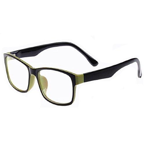 Meijunter Mode Anti-Strahlung Brille Retro Voll Rahmen Harz Klare Linse Optische Gläser für Damen Herren