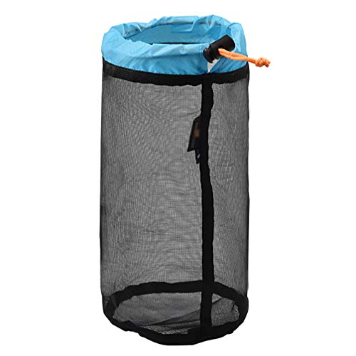 BESPORTBLE Mesh Drawstring Storage Bag Mesh Equipment Bag Organizer Bag Laundry Storage Bag for Hiking Camping Fishing Traveling