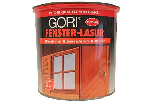 Gori Fenster-Lasur Wetterschutz für Holz UV-Filter Flugrost/Beule 2,5 Liter Farbwahl, Farbe:Eiche Rustikal
