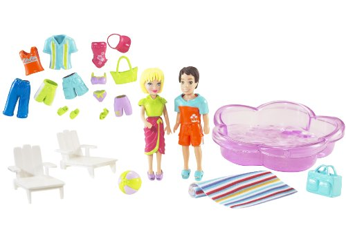 Polly Pocket Poolin' Around Polly and Todd Playset