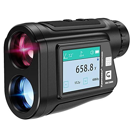 Anbull Telémetro de Golf telémetro láser de 600 m, precisión ± 0,5 m, conversión de Unidad de pies / Metro / Yarda, Aumento de 6 Veces, corrección de inclinación, Utilizado para Distancia de G
