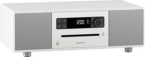 sonoroSTEREO Design 2.1 Stereo Musiksystem mit Bluetooth Technologie, CD-Spieler, FM/DAB/DAB+ Radio, hochglanz weiß SO310-WH