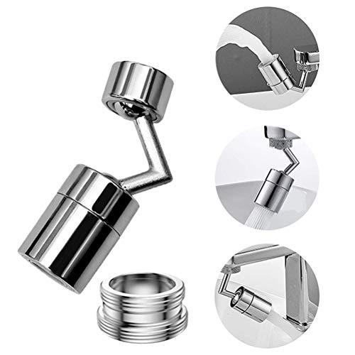 Universal Splash Filter Faucet 720 ° Girevole Gorgogliatore Testa Extender Spruzzatore Regolabile Rubinetto Aeratori 2 Modalità, Filtro a Rete a 4 Strati, Design a Prova di Perdite con Doppio O-ring