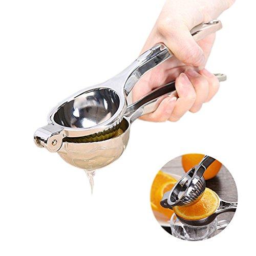 Zitronenpresse, Größe Manuelle Entsafter Edelstahl Hand drücken Lime Citrus Saftpresse