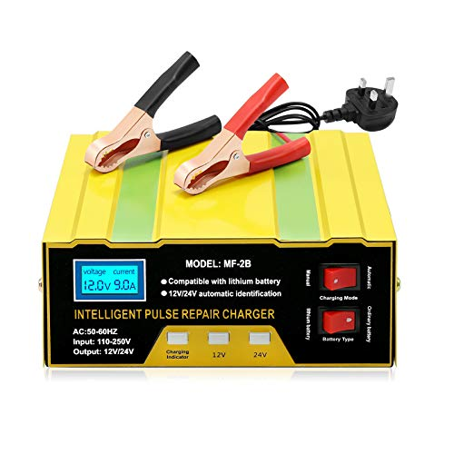 Car Battery Charger 12v/24v Battery Charger 10A Smart Battery Charger with...