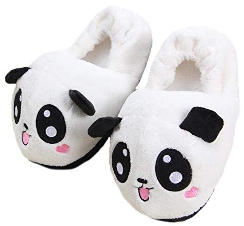 3D Winter niedlichen Tier Form plüsch Haus Hausschuhe Mode warme Tier Cosplay Indoor Schuhe für Frauen (Panda)