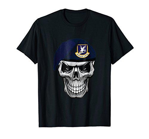 Air Force Security Forces Defender Skull Beret T-Shirt