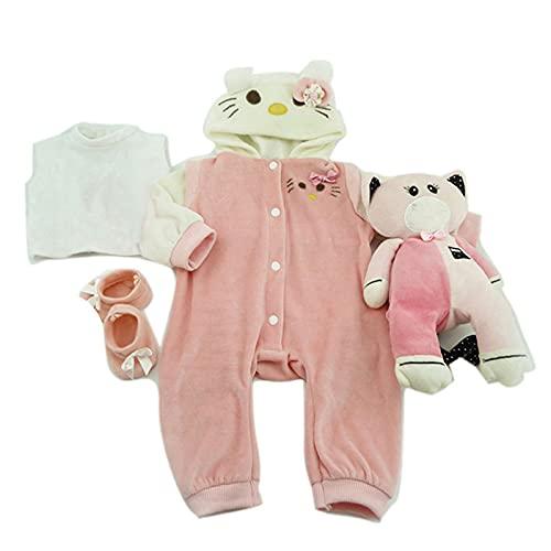 MineeQu 4 Convient 50-55CM Haute Qualité Nouveau-Né Poupées Robe Reborn Bébé Poupée Tous Les Vêtements en Coton
