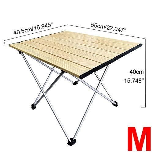 Table HDS Portátiles Camping Laterales Superior de Aluminio: Hard-Cubierto Mesa Plegable en una Bolsa de Picnic, Campo, Playa, Mesa de Senderismo (Color : 01)