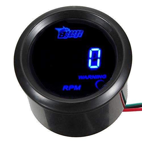 ESUPPORT Car 2' 52mm Digital Tacho Gauge Blue RPM Tachometer 0-9999