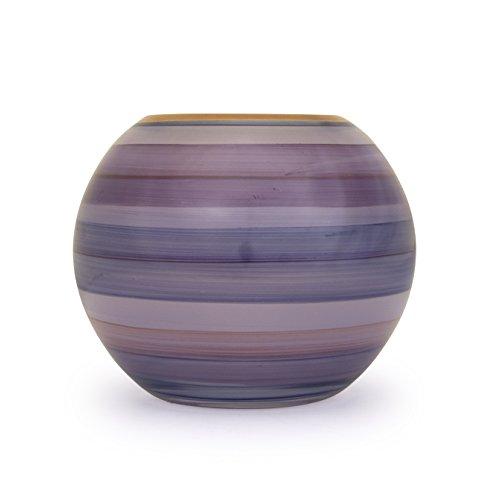 Angela nieuwe Weense werkstaette glazen vaas veredeld bolvorm, glas, paars, 14 x 14 x 14 cm