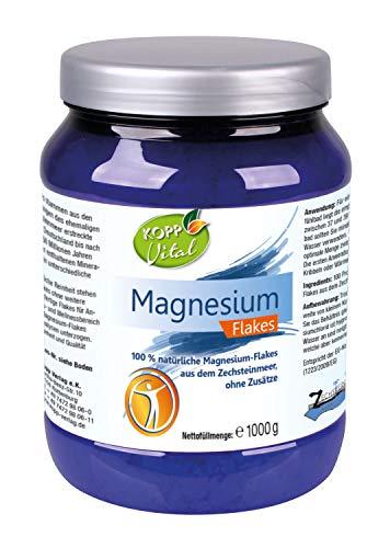 Kopp Vital Magnesium Flakes   1000g   vegan   100 Prozent natürliche Magnesium-Flakes   aus dem Zechsteinmeer   ohne Zusätze