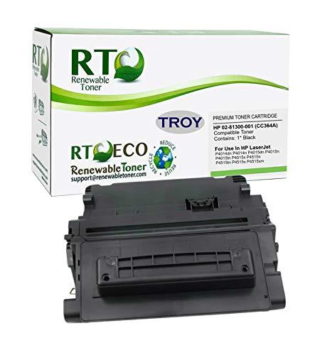 Renewable Toner Compatible MICR Toner Cartridge Replacement for Troy 02-81300-001 HP CC364A 64A P4014 P4015 P4515