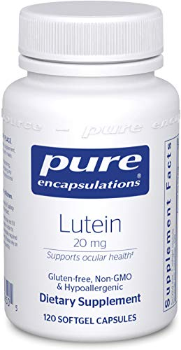 Pure Encapsulations - Lutein 20 mg - Hypoallergenic Antioxidant Support for Healthy Visual Function - 120 Softgel Capsules