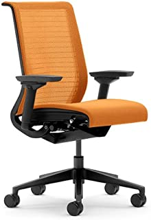 Steelcase Think Chair, Tangerine 3D Knit Back with Tangerine Fabric Seat
