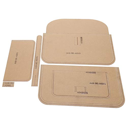 Jeanoko Handtaschen-Vorlage, gut gemacht, einfach zu lagern, Kratzer verhindern Brieftasche Schablone, für DIY Ledertasche für Handarbeit Handwerk
