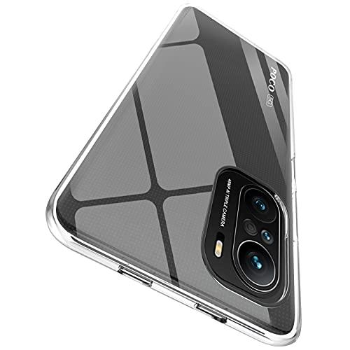 "ORNARTO Durchsichtig Kompatibel mit Xiaomi Poco F3 Hülle, Transparent TPU Flexible Silikon Handyhülle Schutzhülle Hülle für Xiaomi Poco F3(2021) 6,67""-Klar"