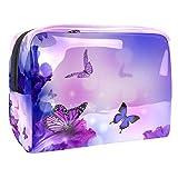 TIZORAX - Bolsa de maquillaje de PVC, diseño de hada de flores, para mujer, de PVC, para maquillaje