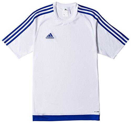 adidas Estro 15 JSY - Camiseta para hombre, color blanco/azul, talla S