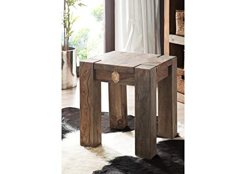 MASSIVMOEBEL24.DE Sheesham Massivholz Hocker Palisander Möbel massiv Holz Nature Grey #10