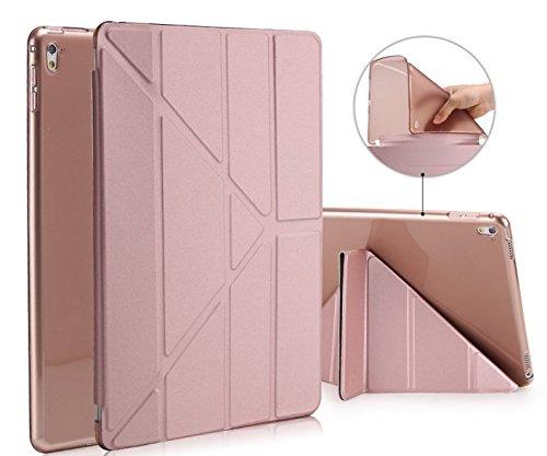 Funda para iPad de Spetven, ultradelgada, inteligente, diseño de origami rosa oro rosa ipad pro 10.5 inch
