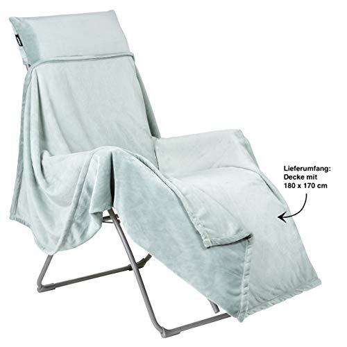 Lafuma Flocon Decke Plaid für Relaxliegen 180 x 170 cm Kuscheldecke Boreale LFM2937.9281
