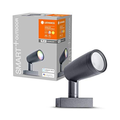 LEDVANCE Smarte LED Gartenleuchte mit WiFi Technologie, Erweiterungspaket mit 1 Spot-Strahler für Außen, RGB-Farben änderbar, Kompatibel mit Google und Alexa Voice Control, SMART+ WIFI GARDEN SPOT