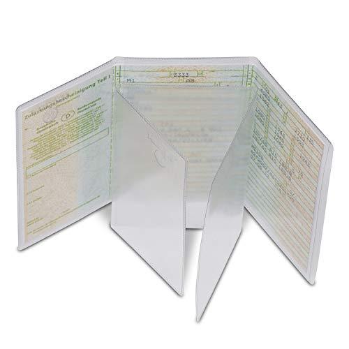 2 Stück, Kfz-Schein Hülle von Nekava ist die perfekte Ausweishülle für Ihren Zulassungsschein. Die transparente Schutzhülle aus hochwertigem PVC schützt Ihren Schein vor Schmutz, Staub und Wasser.