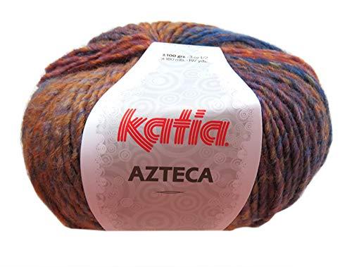 Azteca 100 g Dickes Wintergarn Blau-Braun 7858