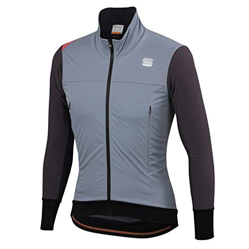 Sportful FIANDRE Strato Wind Jacket Veste Thermique Respirante Goretex (L, Cement/Anthracite)