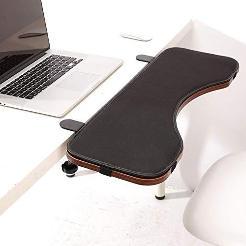 SYJY Soporte para reposabrazos de bandeja de teclado, plataforma ajustable para teclado y ratón con almohadilla ergonómica para reposamuñecas, almacenamiento plegable